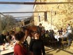 i went to a calçotada and horse walked through the restaurant