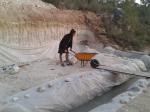 energetic american style wheelbarrowing
