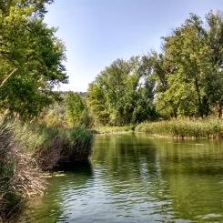 nearest swim spot - 20 mins walk from site