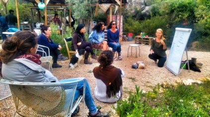 workshop with kate curtis about regenerative agriculture